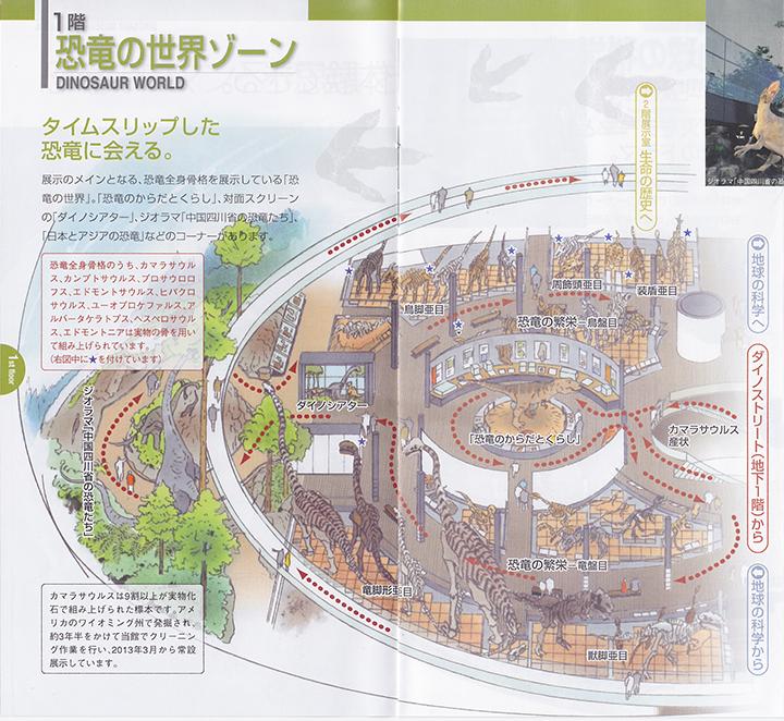 恐竜の世界ゾーンのパンフレット