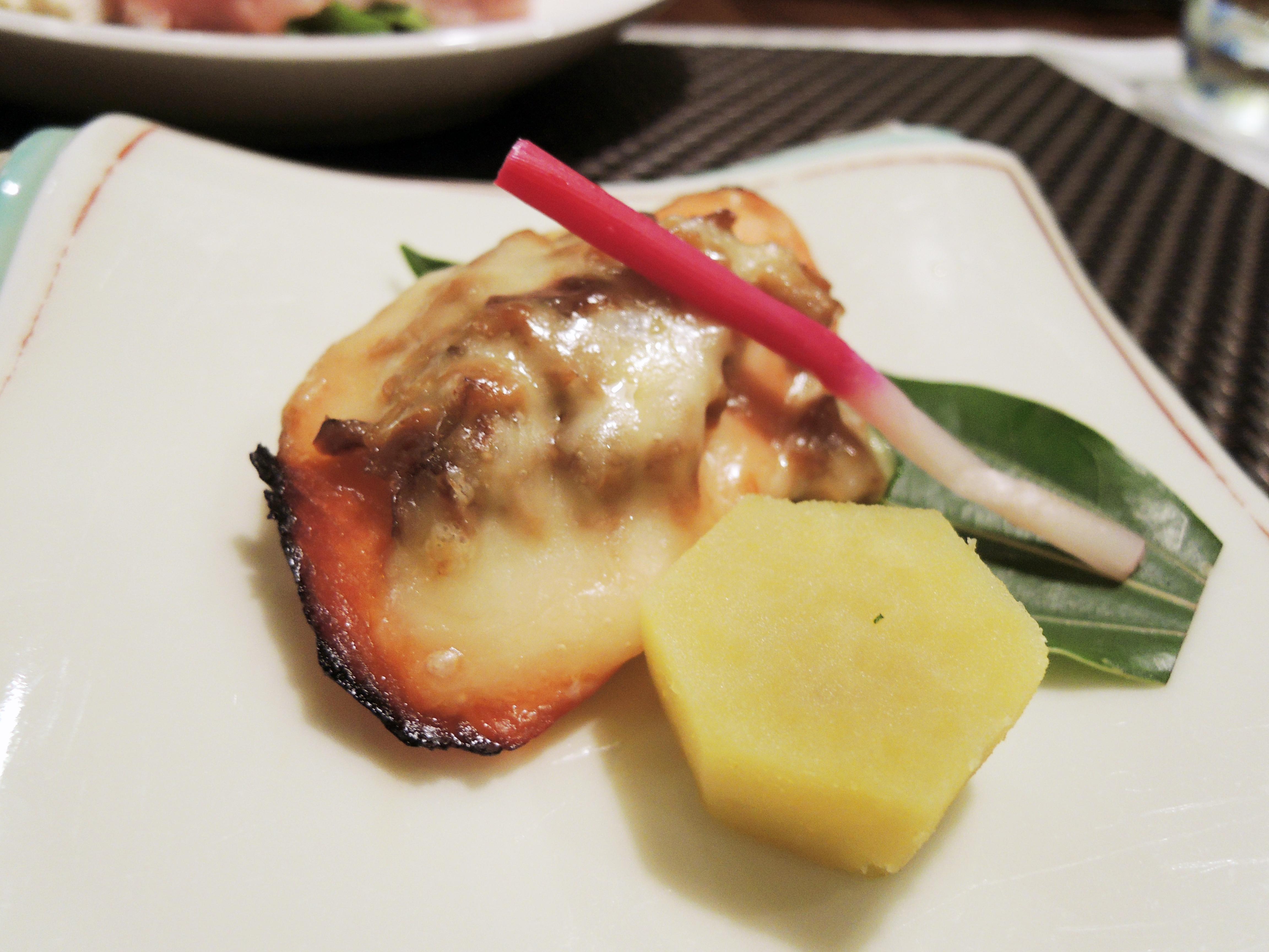 秋サーモンの茸味噌チーズ焼き